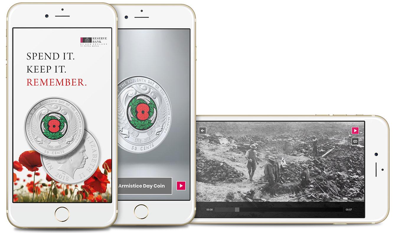 RBNZ Armistice Day Coin App - GSL Promotus