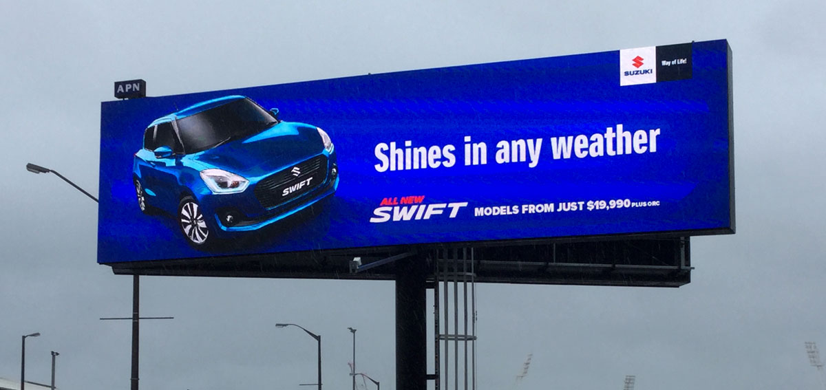 Swift Billboard Wet Weather