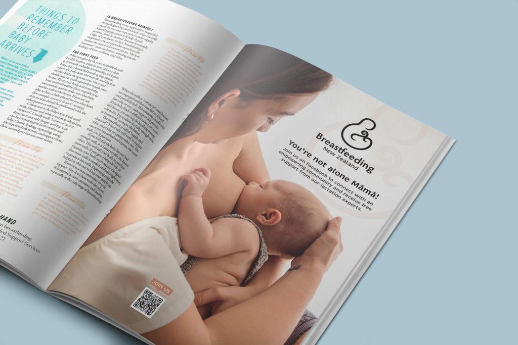 Breastfeeding NZ magazine ad